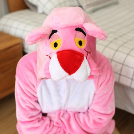 Pink Panther Onesie Costume Outfit Pajama for Adults & Teens