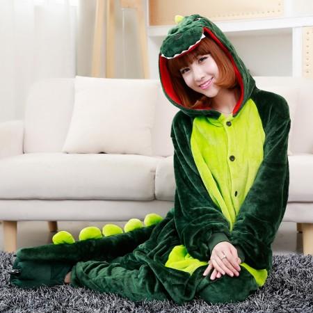 Adult Animal Onesie Dinosaur Costume Pajama For Halloween Jumpsuit