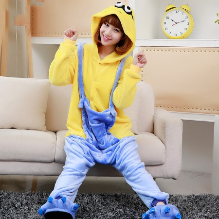 Minions Onesie Costume Pajama Halloween Outfit for Adults & Teens