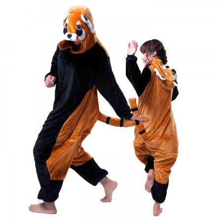 Red Panda Onesie for Women & Men Costume Onesies Pajamas Halloween Outfit