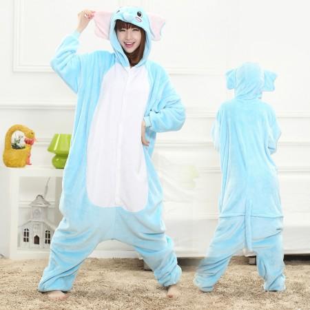 Blue Elephant Onesie for Women & Men Costume Onesies Pajamas Halloween Outfit