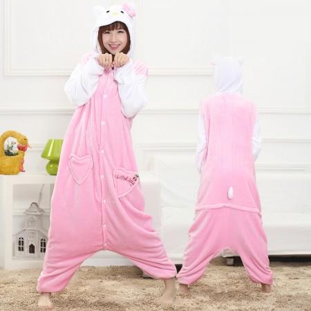 Kitty Cat Onesie for Women & Men Costume Onesies Pajamas Halloween Outfit