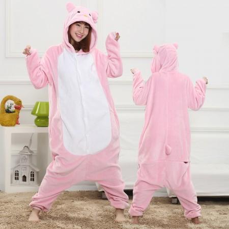 Pink Kitty Cat Onesie for Women & Men Costume Onesies Pajamas Halloween Outfit