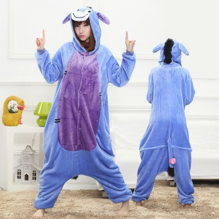Eeyore Onesie for Women & Men Costume Onesies Pajamas Halloween Outfit