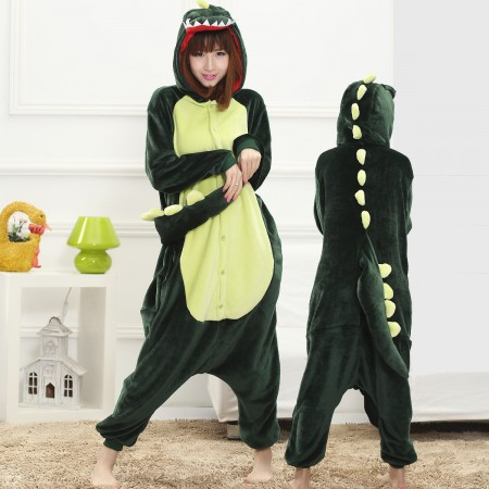 Dinosaur Costume Onesie for Women & Men Pajamas Halloween Outfit