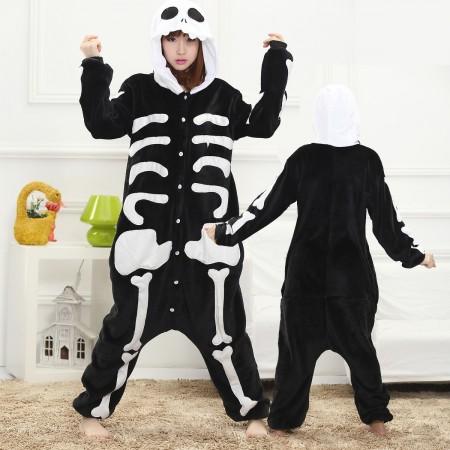 Skeleton Onesie for Women & Men Costume Onesies Pajamas Halloween Outfit