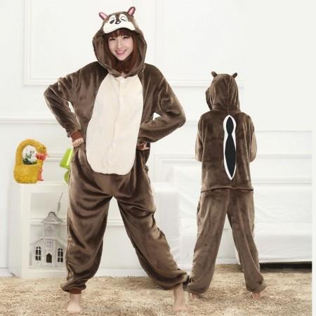 Squirrel Onesie for Women & Men Costume Onesies Pajamas Halloween Outfit