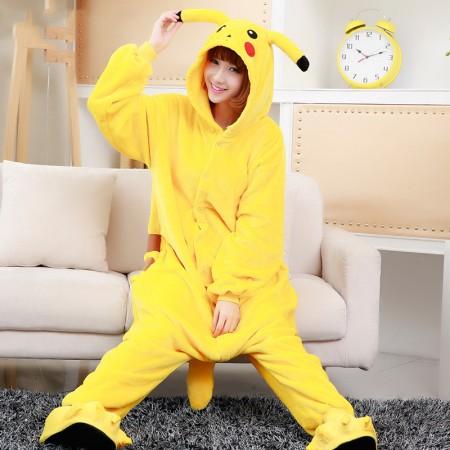 Pikachu Costume Onesie Adult Animal Onesies Halloween Outfit
