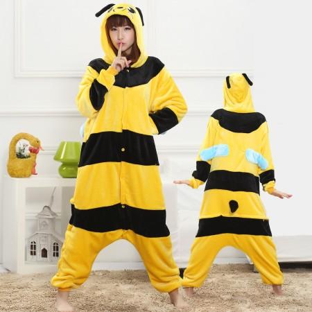 Honeybee Onesie for Women & Men Costume Onesies Pajamas Halloween Outfit