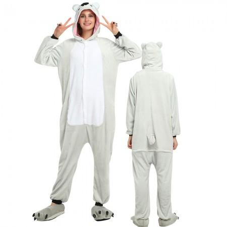 Koala Costume Onesie for Women & Men Pajamas Halloween Outfit