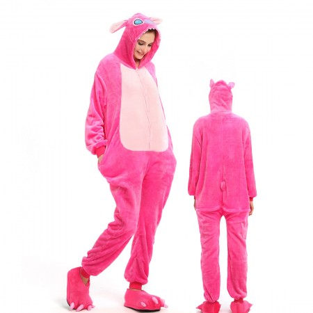 Pink Stitch Costume Onesie for Women & Men Pajamas Halloween Outfit