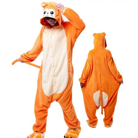 Monkey Costume Onesie for Women & Men Pajamas Halloween Outfit
