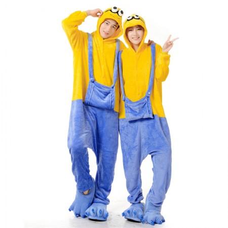 Minions Costume Onesie for Women & Men Pajamas Halloween Outfit
