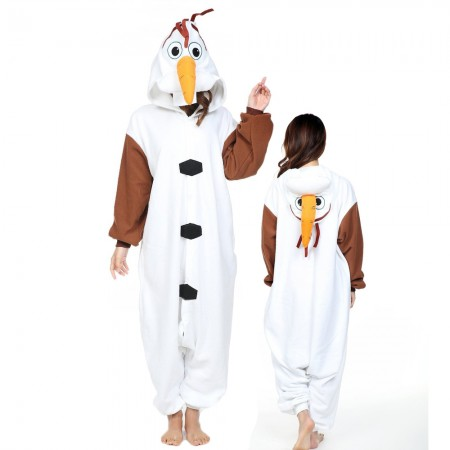 Snowman Olaf Costume Onesie for Women & Men Pajamas Halloween Outfit