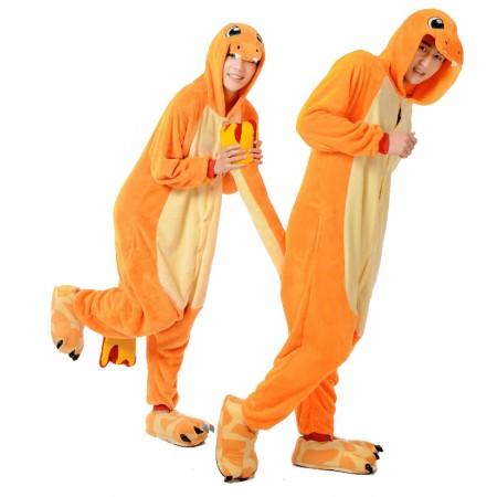Charmander Costume Onesie for Women & Men Pajamas Halloween Outfit