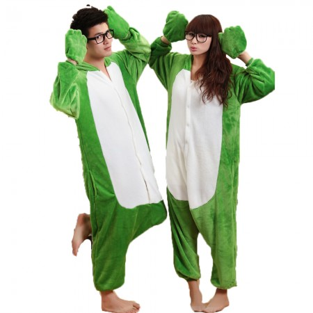 Frog Costume Onesie for Women & Men Pajamas Halloween Outfit