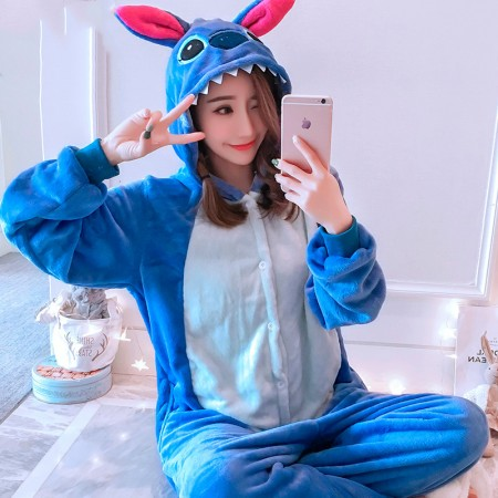 Lilo & Stitch Onesie Costume Pajamas for Adults & Teens Halloween Outfit