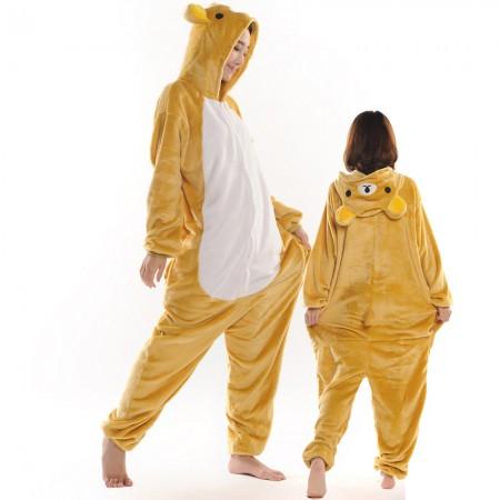 Rilakkuma Costume Onesie for Women & Men Pajamas Halloween Outfit