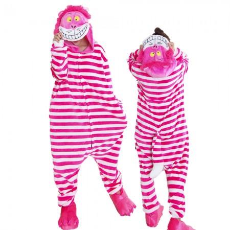 Cheshire Cat Costume Onesie for Women & Men Pajamas Halloween Outfit