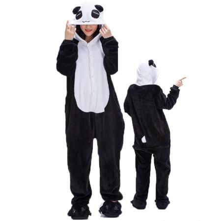 Pandas Costume Onesie for Women & Men Pajamas Halloween Outfit