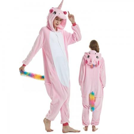 Pink Unicorn Costume Onesie for Women & Men Pajamas Halloween Outfit