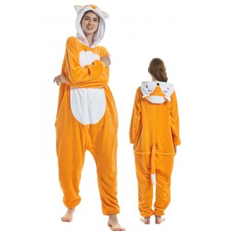 Fox Costume Onesie for Women & Men Pajamas Halloween Outfit