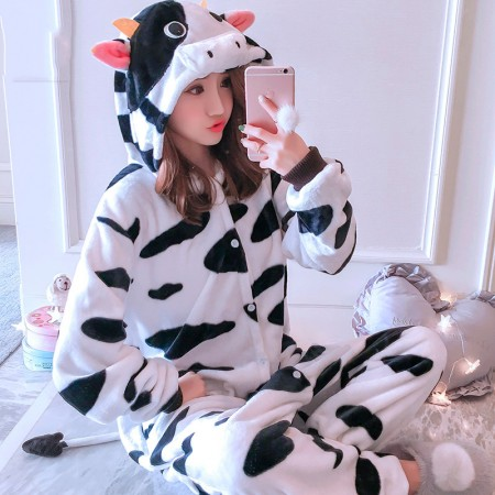 Cow Onesie Costume Pajamas for Adults & Teens Halloween Outfit
