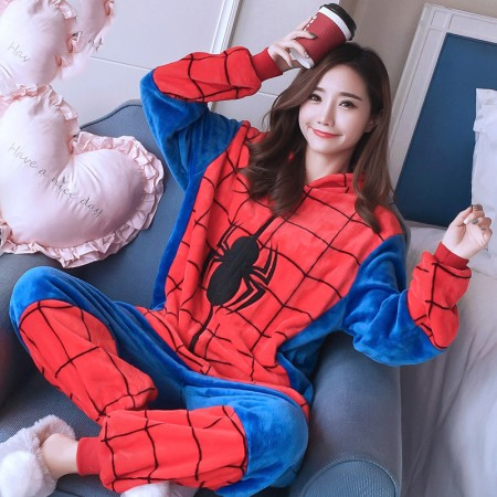 Spiderman Onesie Costume Pajamas for Adults & Teens Halloween Outfit