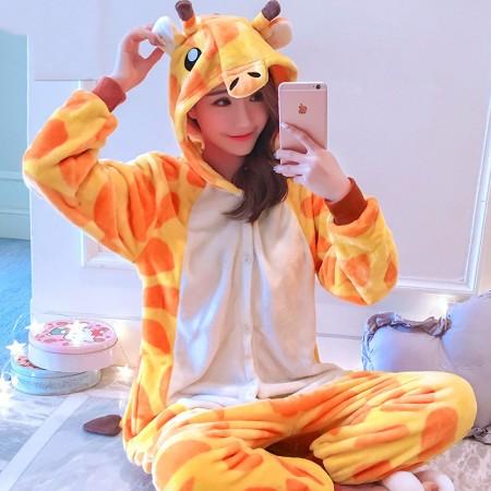 Giraffe Onesie Costume Pajamas for Adults & Teens Halloween Outfit