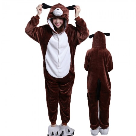 Dog Costume Onesie Pajamas for Adults & Teens Halloween Outfit