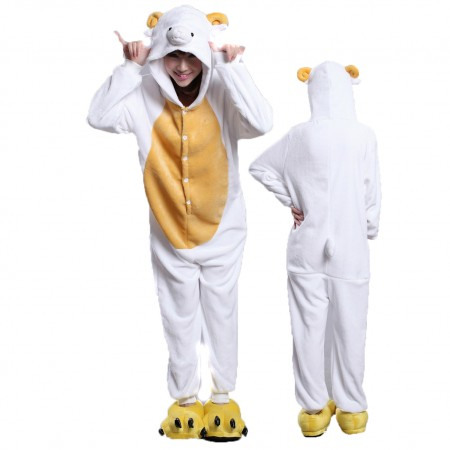 Sheep Onesie Costume Pajamas for Adults & Teens Halloween Outfit