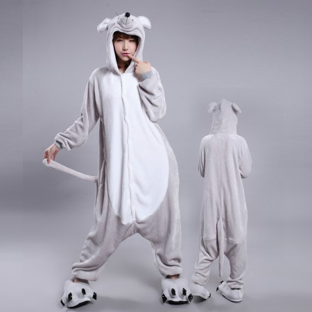 Mouse Onesie Costume Pajamas for Adults & Teens Halloween Outfit