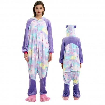 Dream Panda Onesie Costume Pajamas for Adults & Teens Halloween Outfit