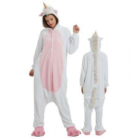 Gold Unicorn Onesie Costume Pajamas for Adults & Teens Halloween Outfit