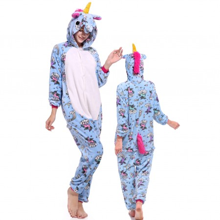 Unicorn Onesie Costume Pajamas for Adults & Teens Halloween Outfit