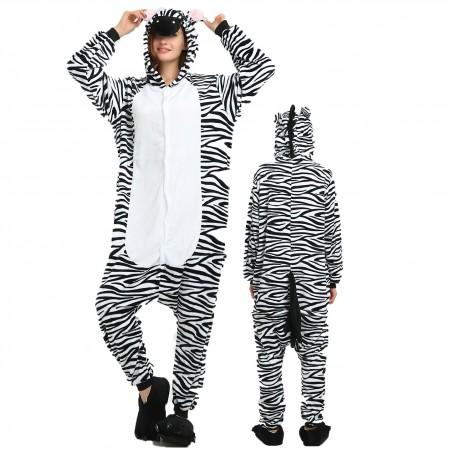 Women & Men Zebra Onesie Costume Onesies Pajamas for Halloween