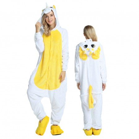 Women & Men Yellow Unicorn Onesie Costume Onesies Pajamas for Halloween