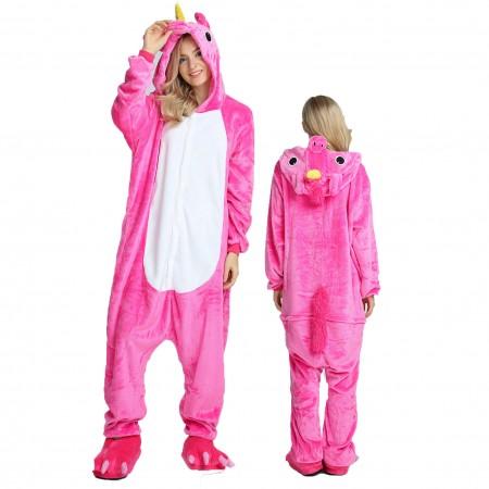 Women & Men Rose Unicorn Onesie Costume Onesies Pajamas for Halloween