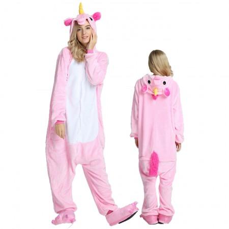 Women & Men Pink Unicorn Onesie Costume Onesies Pajamas for Halloween
