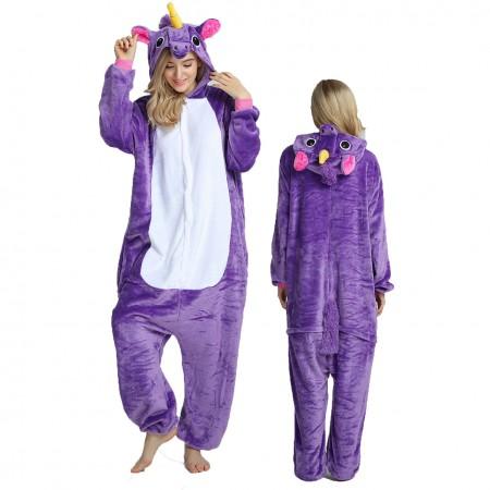 Women & Men Purple Onesie Costume Onesies Pajamas for Halloween