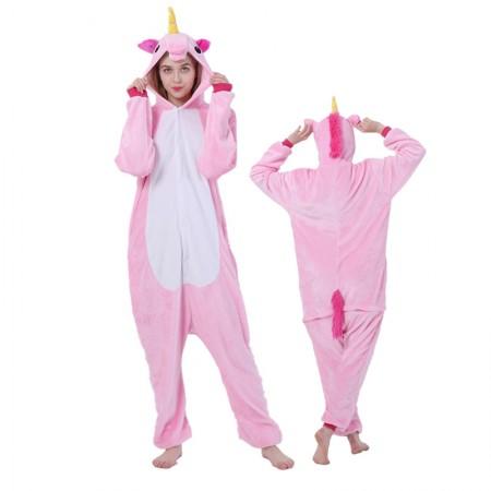 Pink Unicorn Onesie for Women & Men Unicorn Costume Onesies Pajamas Halloween Outfit