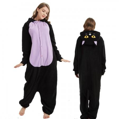 Midnight Cat Onesie Costume Pajama for Adult Women & Men Halloween Costumes