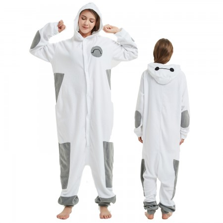 Baymax Onesie Costume Pajama for Adult Women & Men Halloween Costumes