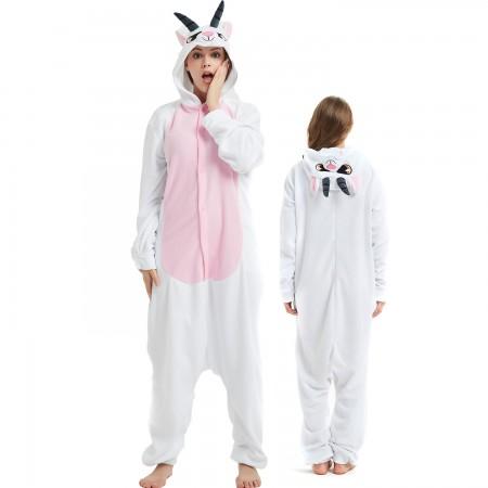 Goat Onesie Costume Pajama for Adult Women & Men Halloween Costumes