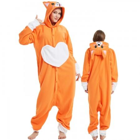Corgi Dog Onesie Costume Pajama for Adult Women & Men Halloween Costumes