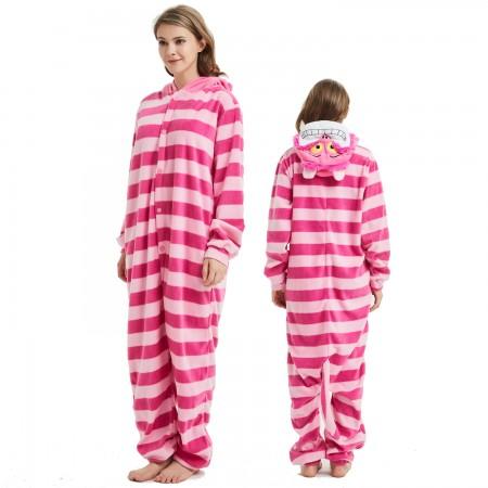 Cheshire Cat Onesie Costume Pajama for Adult Women & Men Halloween Costumes