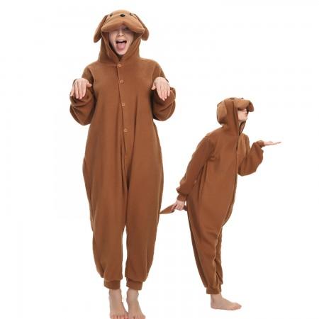 Teddy Dog Onesie Costume Pajama for Adult Women & Men Halloween Costumes