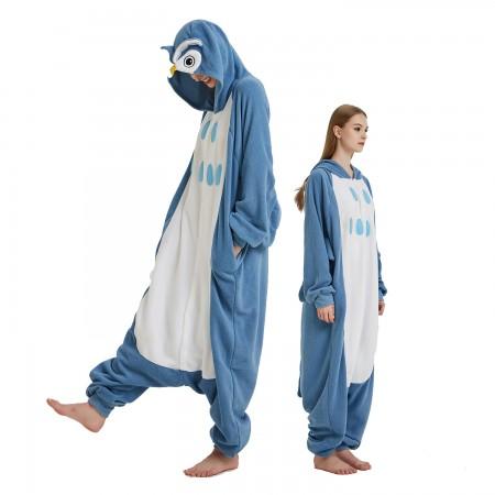 Owl Onesie Costume Pajama for Adult Women & Men Halloween Costumes