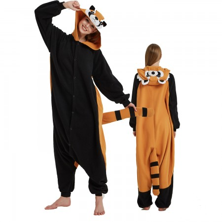 Red Panda Raccoon Onesie Costume Pajama for Adult Women & Men Halloween Costumes