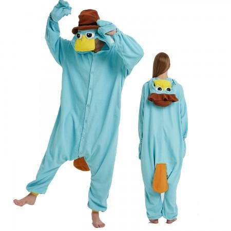 Platypus Onesie Costume Pajama for Adult Women & Men Halloween Costumes